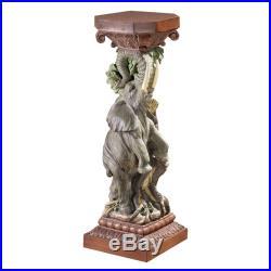 Design Toscano The Elephant's Triumph Sculptural Pedestal