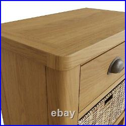 Dovedale Oak Small Lamp Table / Rustic Side Table End Unit Plant Stand Telephone