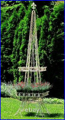 Eiffel Tower Structure Statue Plant Flower Stand Wedding Decor Party Prop Silver