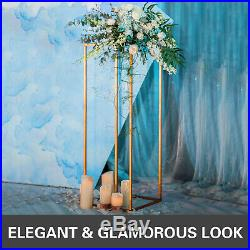 Flower Rack Metal Art Geometric Column Vase Stand Prop Wedding Party Detachable