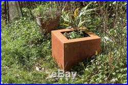 Flowerpot / Planter Square Handmade Art object garden decoration
