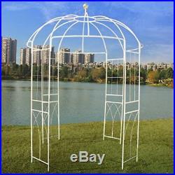 French Style Birdcage Shape Metal Gazebo Pergola Pavilion Arch Plants Stand Rack