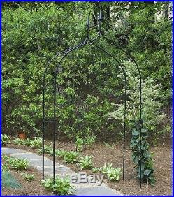 Garden Arch 8' Arbor Metal Climbing Plant Flower Vine Yard Support Round Trellis