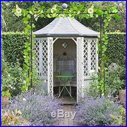 Garden Arch Arbor High Wide Metal Steel Frame Stand Trellis For Rose Vines Plant