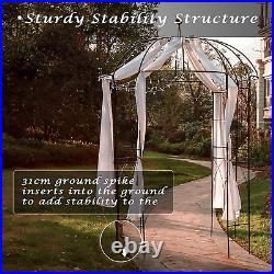 Garden Arches Arbors Metal Gazebo Durable Iron Trellis Plants Stand Black