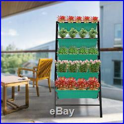 Garden Bed 4Ft Raised Vertical Garden Freestanding Elevated Planters 5 Container