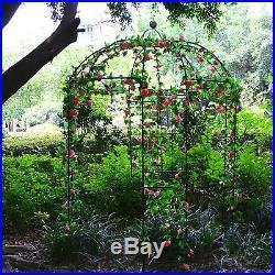 Garden Metal Gazebo Trellis Arch Arbor Plants Stand Plants Rack for Roses&Vines
