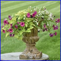 Garden Urn Planter 23 In Large Lightweight Durable Indoor Outdoor Metal Classic