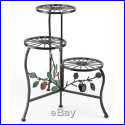 Gifts & Decor Country Apple Plant Stand Shelf Holds 3-Flower Pot