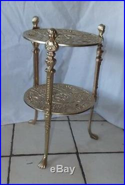 Gold Metal 2 Tier Plant Stand / Side Table (RP-PS118)