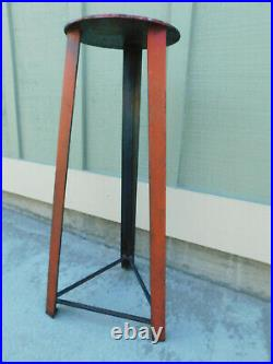 Hand Forged Iron Tripod Hammer Table Pedestal Plant Stand Stool Metal Industrial