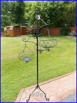 Home Interiors Better Homes & Gardens Metal Hanging Baskets Rack Plant Stand NEW