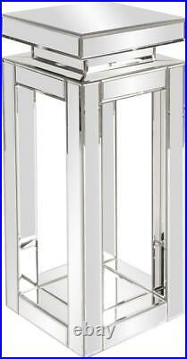 Howard Elliott Pedestal Plant Stand Open Frame Body Small Mirrored Mirror
