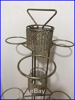 Hull Imperial F1 USA 1950`s MID Century 9 Pot Atomic Metal Plant Stand