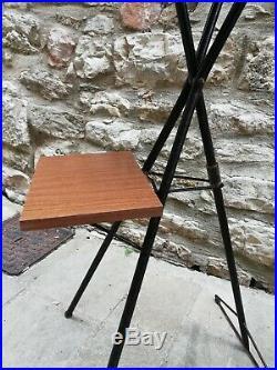 Ico Parisi Borsani tripod folding plant stands Teak wood italy Mid Century 1950s