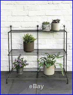 Indoor Freestanding Steel Metal Plant Pot Shelf Display Outdoor Garden Stand UK