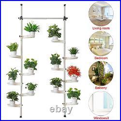 Indoor Plant Storage, FOME Metal Spring Double Pole Stand Corner Flower Display