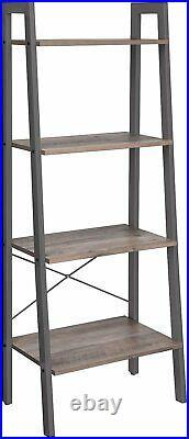Industrial Plant Stand Vintage Bookcase Ladder Shelving Grey Display Rack Metal