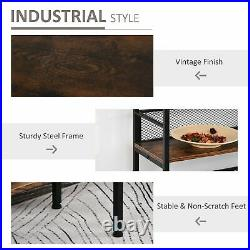 Industrial Shelving Display Unit Rustic Storage Shelf Bookcase Lamp Plant Stand