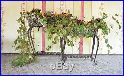 Jardiniere Porte Plantes Marron Jardin Vintage Shabby Chic Metal Forge Ancien