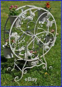 Jonart Windmill Planter Metal Rotating Wheel Plant Stand 5 Pots Indoor & Outdoor