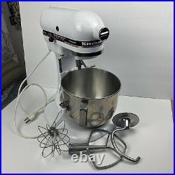 KitchenAid Professional 5 Lift-Bowl Mixer KSM50PWH White WORKS no thumbscrew