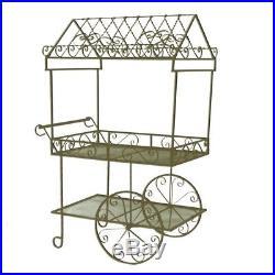 Large Flower Cart Stand Storage Shelves Plant Pot Display Garden Decorative Rack