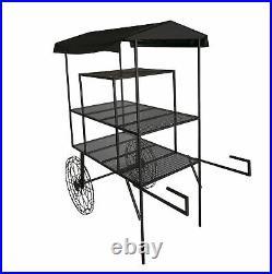 Large Metal Flower Cart Pot Planter Cart Produce Cart Fruit Display Kiosk Stand