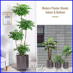Large Metal Plant Stand Flower Pots Set of 3 for Planters Modern Garden Planter