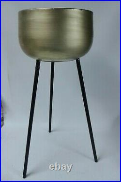 Libra Tall Metal Plant Stands Set of 2 Champagne