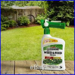 Liquid Weed And Feed Broadleaf Weeds Killer Lawn Garden Plants Flower Fertilizer