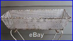 Lovely Antique/Vintage White Metal Plant Stand Shabby Rusty Cottage Garden Porch