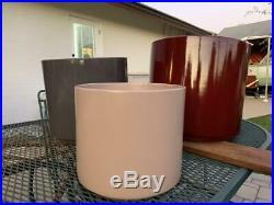 MCM GAINEY metal plant stand vtg space age atomic modern art planter porch decor