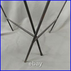 MCM Vintage Patio Side Tables Black Expanded Metal Porch Garden Plant Stand