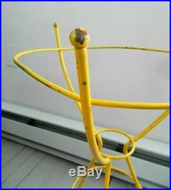 MID CENTURY Eames Bullet plant Stand PR metal tripod wrought iron Hairpin Legs