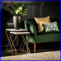 Marble Stylish Tables Gold Metal Furniture Set 2 Side Table Modern Plant Stand