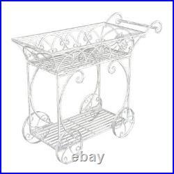 Martinique Cart 92x36x75cm Metal Plant Stand Garden/Lawn Decor/Ornament