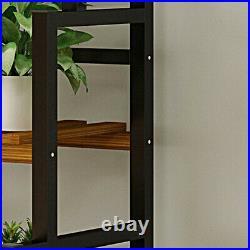 Metal 3-Tier Hanging Plant Stand Planter Shelves Flower Pot Organizer Rack Black