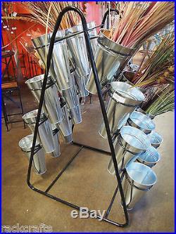 Metal Flower Floral Florist Display Holder Racks Hanger Showcase Stands Bouquets