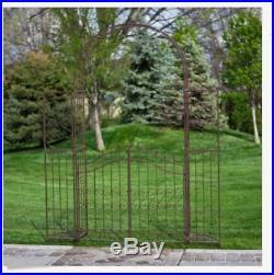 Metal Garden Arbor Home Outdoor Plant Flower Stand Planters Gate Wedding Arch