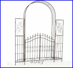 Metal Garden Arch Arbor Gate Elegant Pathway Trellis Archway Plant Climber Stand