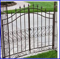 Metal Gate Arbor Plant Stands Garden Pergola Arch Iron Trellis Steel Planters