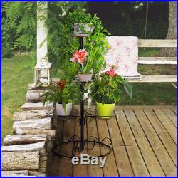 Metal Plant Stand Indoor Outdoor Flower Display Planter Pots Rack Shelf Holder