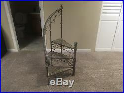 Metal Small Spiral Staircase Stairway Plant Stand Candle Stand Vintage RARE