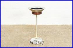 Mid Century Ashtray Smoking Stand Vintage Teak Ashtray or Plant Floor Stand MCM