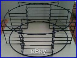 Mid Century Modern 6 Shelf Round Metal Wire Record Plant Stand Art Deco Vintage