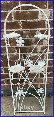 Mid Century Modern Metal Plant Stand with Movable Arms African Violet