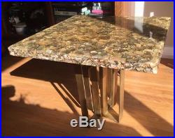 Mid Century Modern Pearlescent Clear Resin End Table Plant Stand Modernism MCM