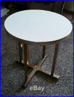 Mid Century Modern X Base Accent End Table Plant Stand Joseph Berke & Co Chicago