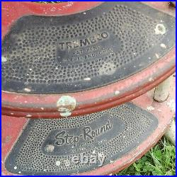 Mid Century Retro Sputnik TREMBCO STEP ROUND Metal Stool Plant Stand Steampunk